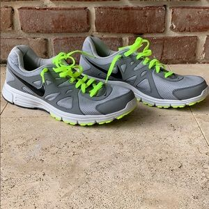 Worn only twice!!  Used Nike men's running shoes